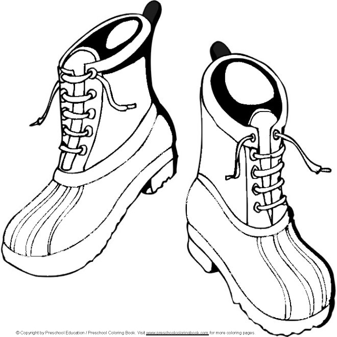 boot jpgWinter Boots Coloring Pages