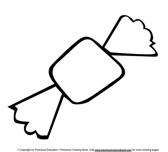 wwwpreschoolcoloringbookcom food coloring page - Candy Coloring Pages