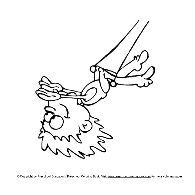 preschool circus coloring pages - photo#25
