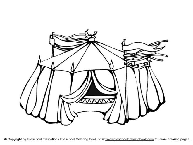 circus tent coloring pages preschool - photo#10