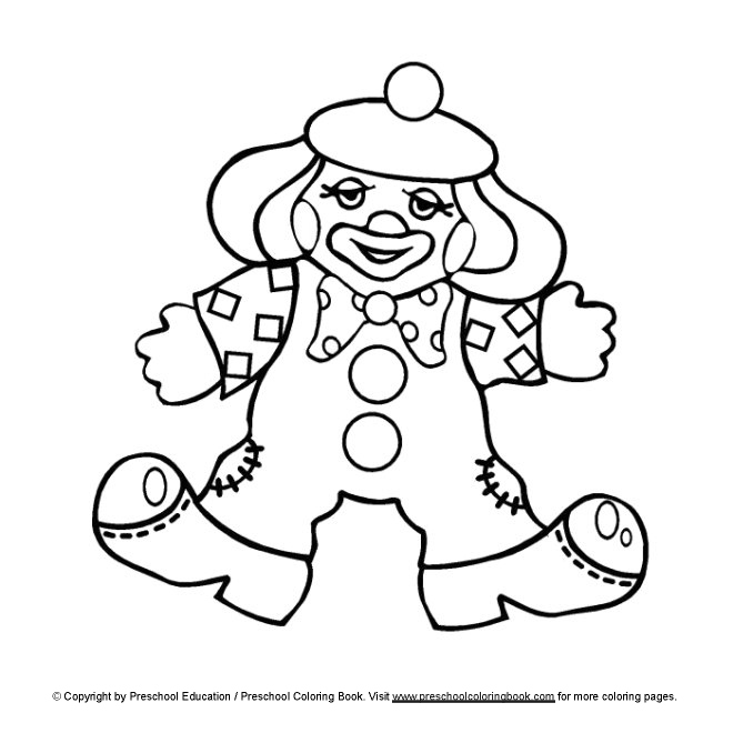 preschool circus coloring pages - photo#3