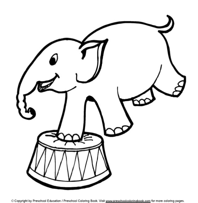 preschool circus coloring pages - photo#1
