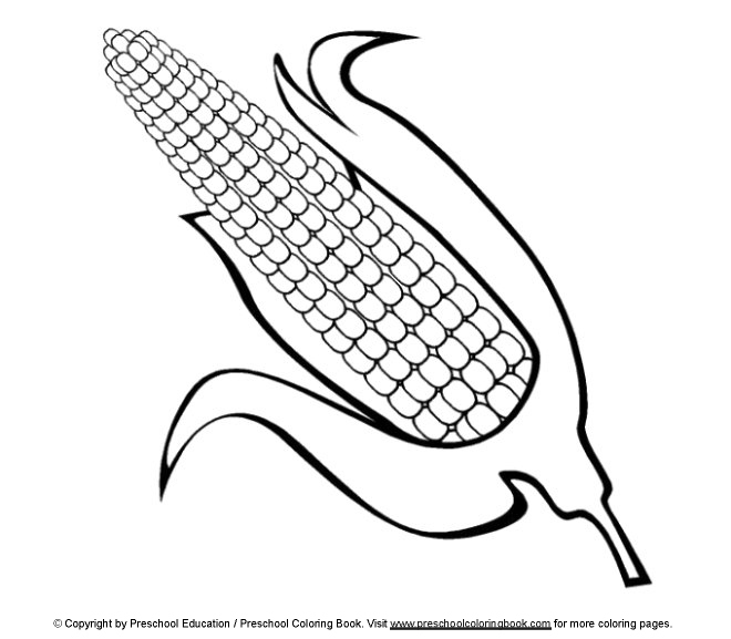 free coloring pages of corn field