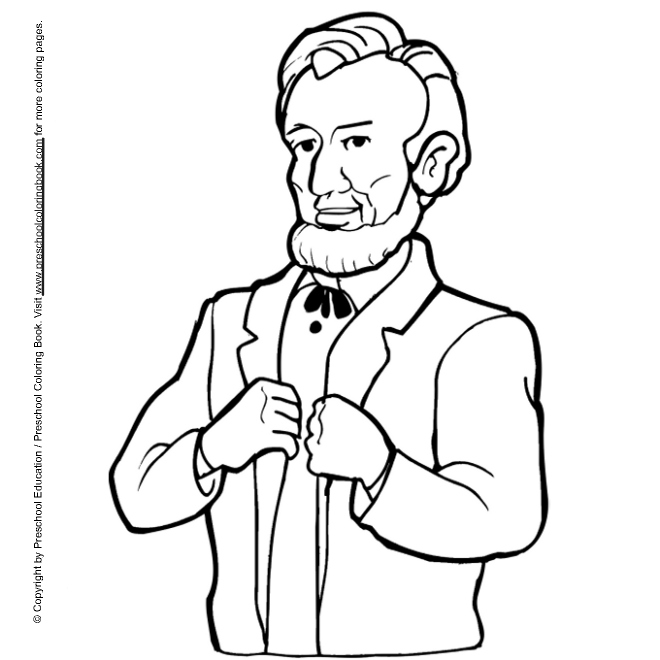 coloring pages presdents day free - photo#23