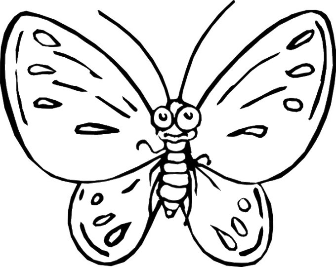 www.preschoolcoloringbook.com / Butterfly & Moths Coloring ... Pictures To Color