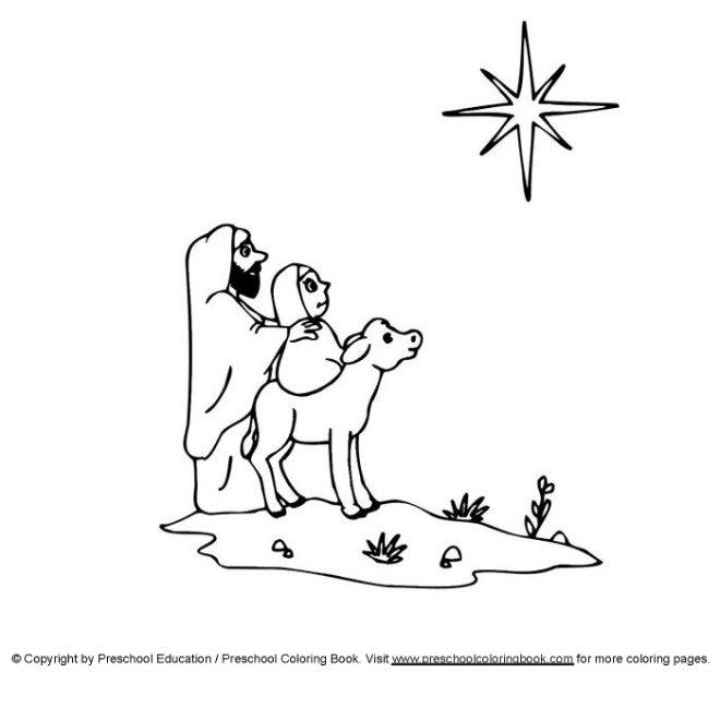 Preschoolcoloringbook Christian Christmas