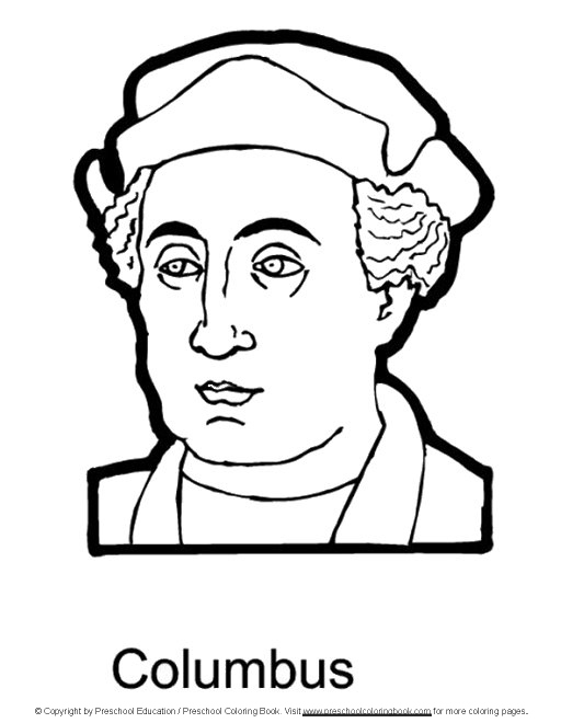 christopher columbus printable coloring pages Christopher Columbus Coloring Pages Printable  Christopher Columbus Coloring Sheet