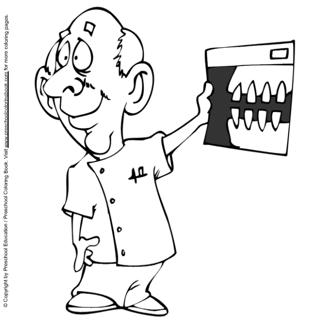 Dental coloring page for Teeth coloring pages preschool