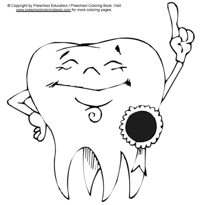 preschool coloring pages teeth - photo#20