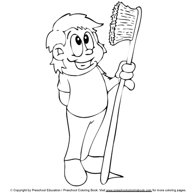 dental coloring pages for preschoolers - photo#17