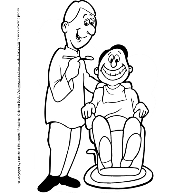 dental coloring pages for preschoolers - photo#13