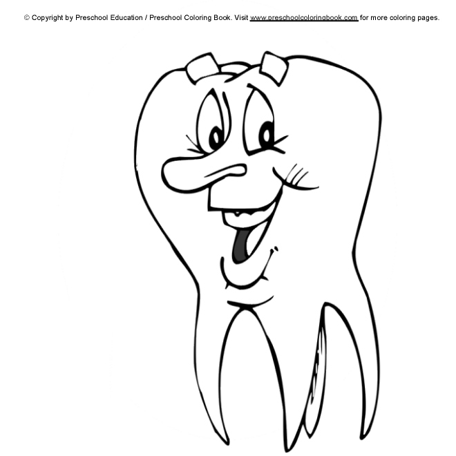 dental coloring pages for preschoolers - photo#24