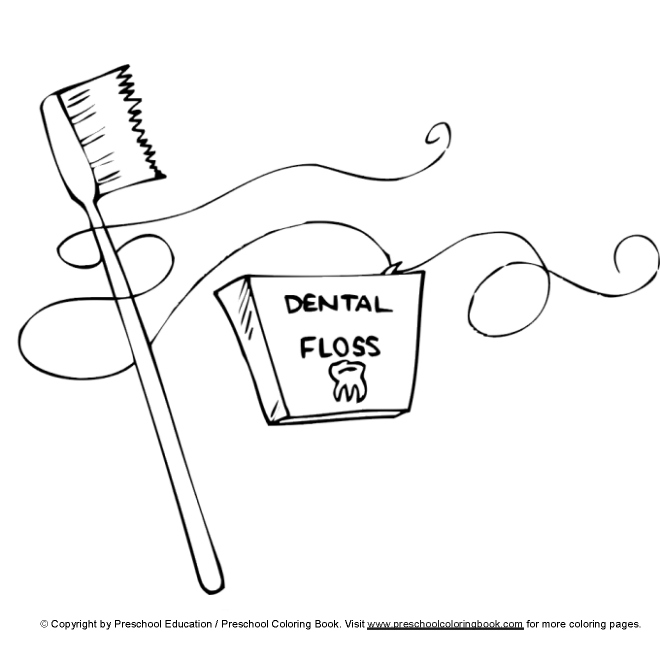 Activities Dental Colouring Pages