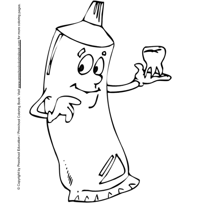 dental coloring pages for preschoolers - photo#20