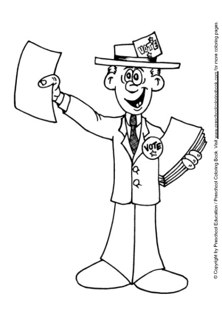 election coloring pages for kids - photo#20