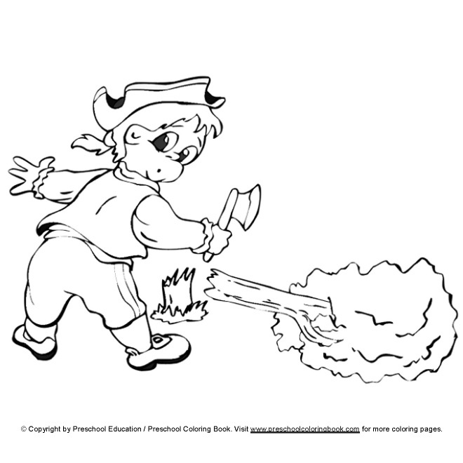 coloring pages presdents day free - photo#26