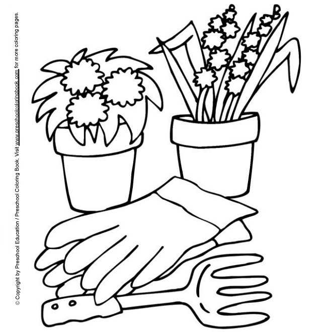 garden coloring pages preschool - photo#14