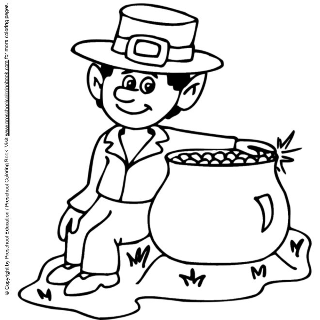 Leprechaun Head Coloring Page Day Coloring Page