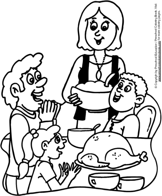 advanced coloring pages thanksgiving food - photo#17