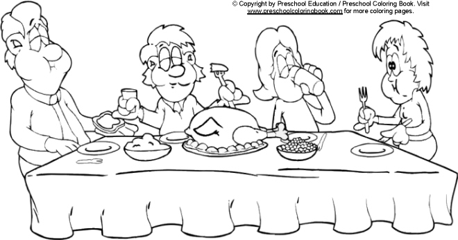 dinner table coloring page - photo #25