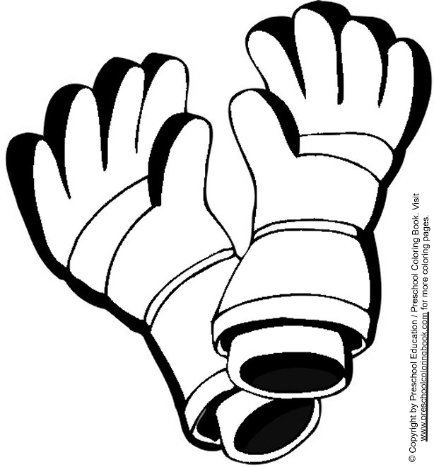 coloring pages winter gloves - photo#11