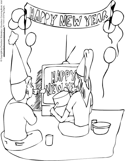 New Year Coloring Pages For Kindergarten : Chinese new year pages for kindergarten coloring
