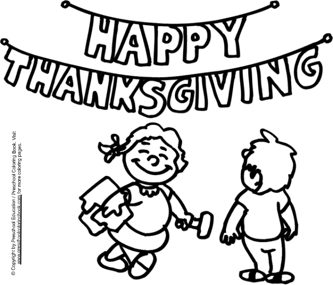 Www Preschoolcoloringbook Com Thanksgiving Coloring Page Preschool Thanksgiving Coloring Pages
