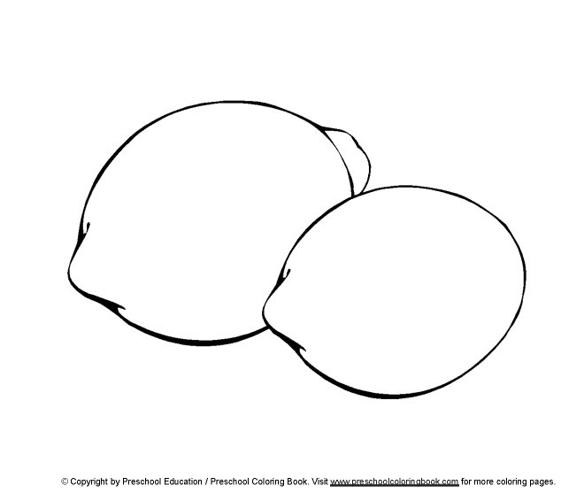 Colored food coloring lemons coloring pages for Lemon coloring page