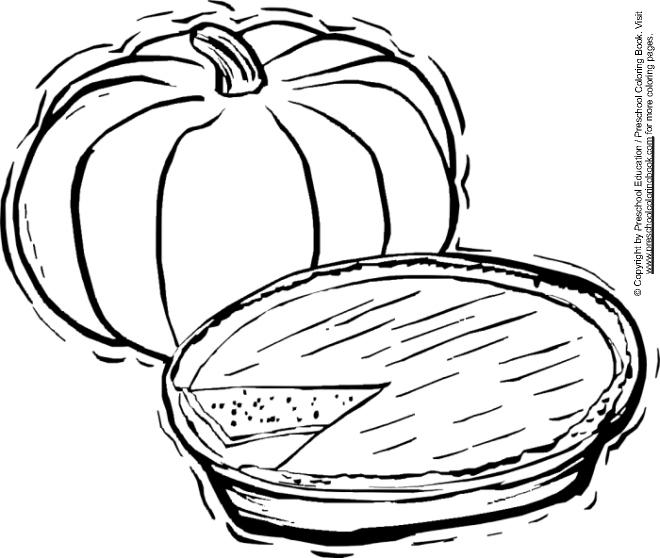 coloring pages pumpkin pie - photo#8