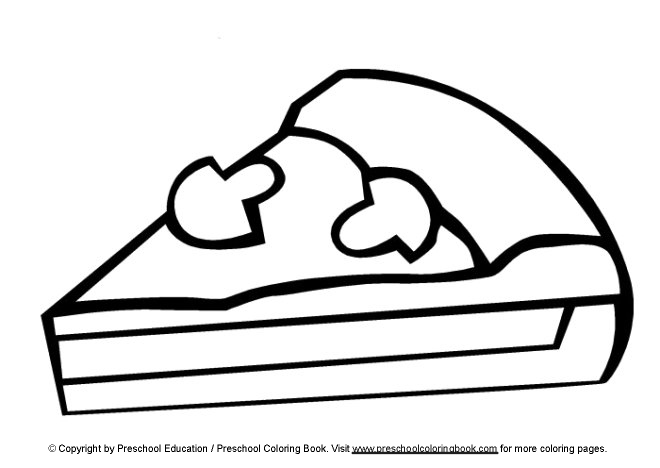 pizza coloring pages for preschool - photo#16
