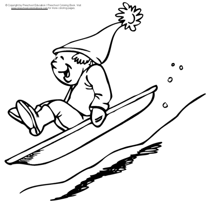 sleigh coloring pages - photo#25