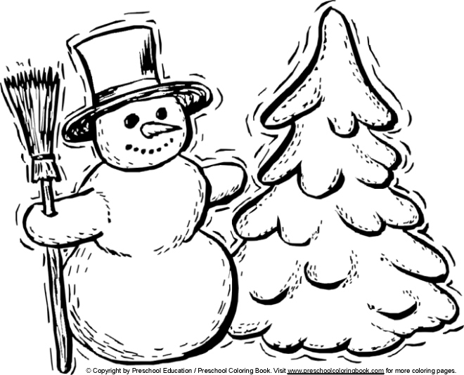 winter coloring pages kindergarten - photo#14