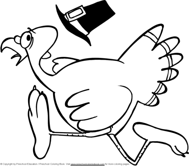 Coloring Pages Turkeys Preschool : Preschoolcoloringbook thanksgiving coloring page
