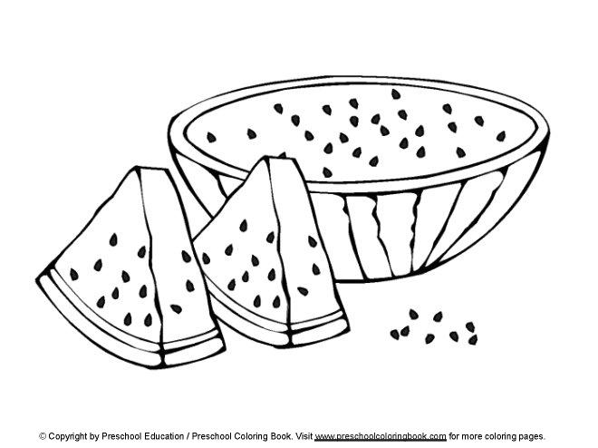 wwwpreschoolcoloringbookcom Food Coloring Page