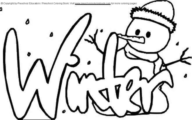 winter coloring pages kindergarten - photo#30