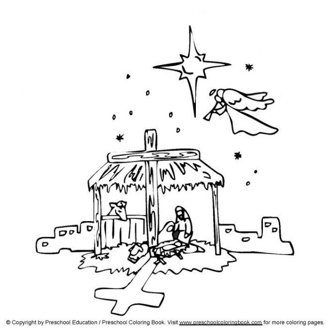 www.preschoolcoloringbook.com / Christian Christmas ...