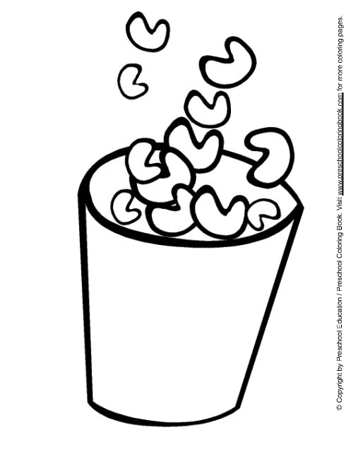 Popcorn Coloring Pages Preschool Coloring Pages Coloring Pages Galleries