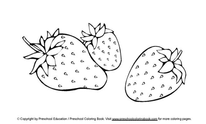www.preschoolcoloringbook.com / Food Coloring Page